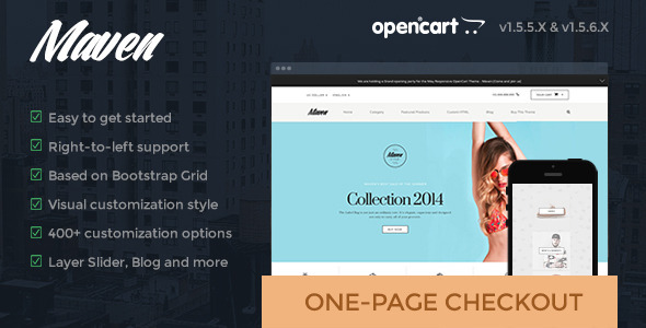 Maven A Fashion OpenCart theme