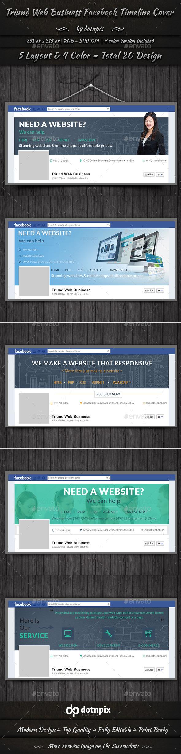 Triund Web Business Facebook Timeline Cover
