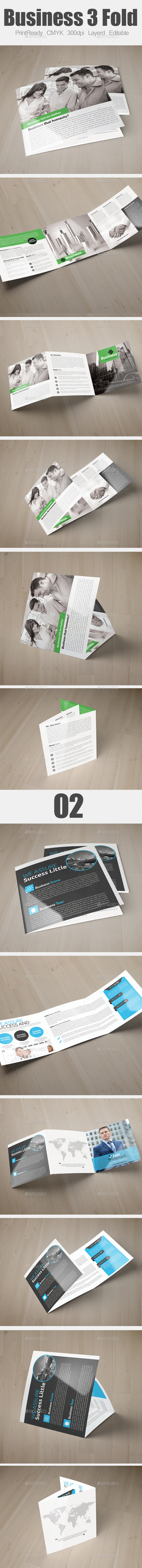 GraphicRiver Multi Use Business Square Trifold Bundle 9278952