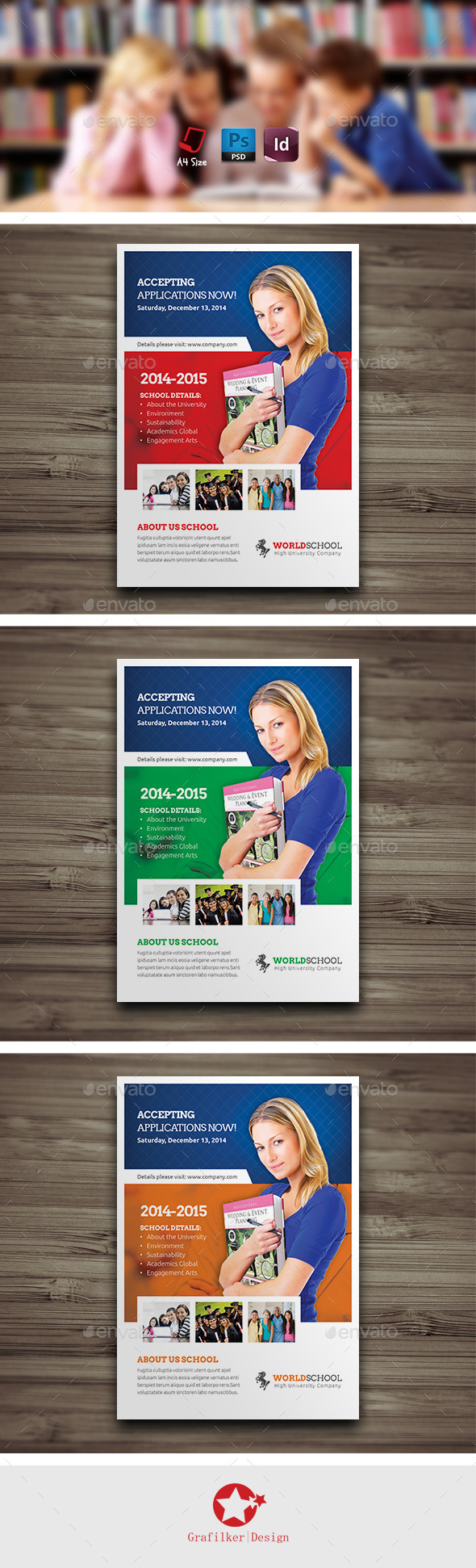 GraphicRiver High School Flyer Templates 9279016