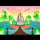 Fantasy Landscape with Castle - GraphicRiver Item for Sale