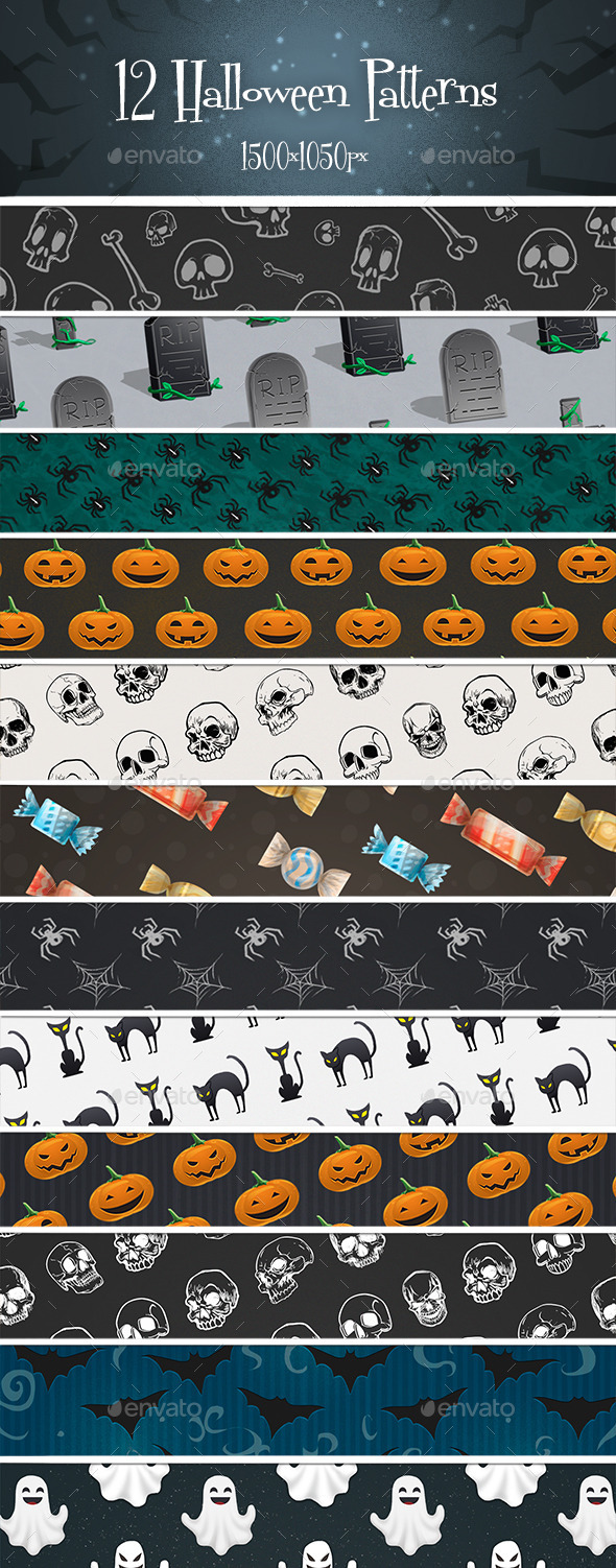 12 Halloween Patterns
