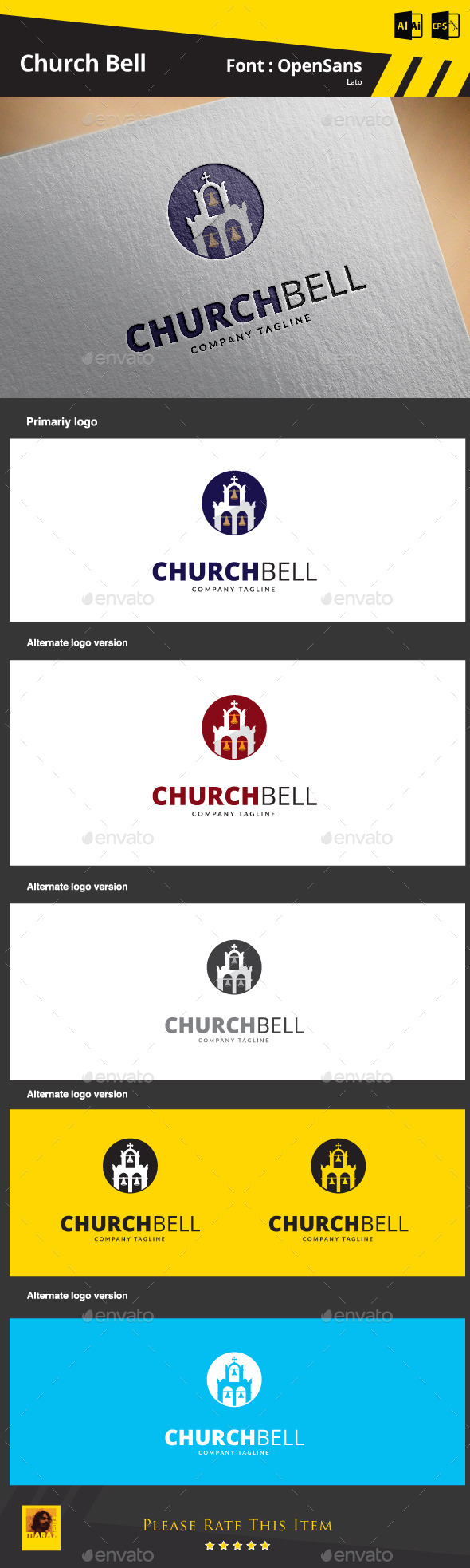 GraphicRiver Church Bell Logo Template 9279178