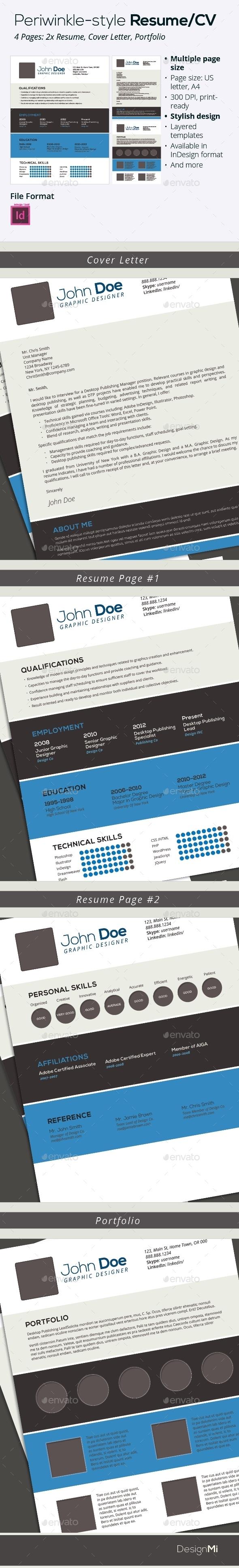 GraphicRiver Azul Style Resume CV 9236895