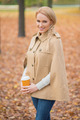 Blond Woman in Fashionable Brown Autumn Attire - PhotoDune Item for Sale