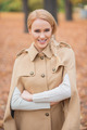 Beautiful Blond Woman in Brown Autumn Outfit - PhotoDune Item for Sale
