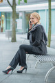 Smiling Businesswoman Talking Through Phone - PhotoDune Item for Sale