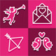 Icons Set for Valentine's Day - GraphicRiver Item for Sale