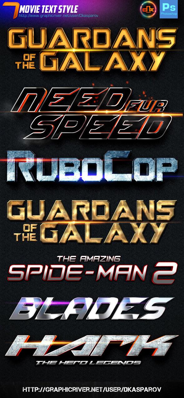 GraphicRiver 7 Movie Text Style Premium 9243934