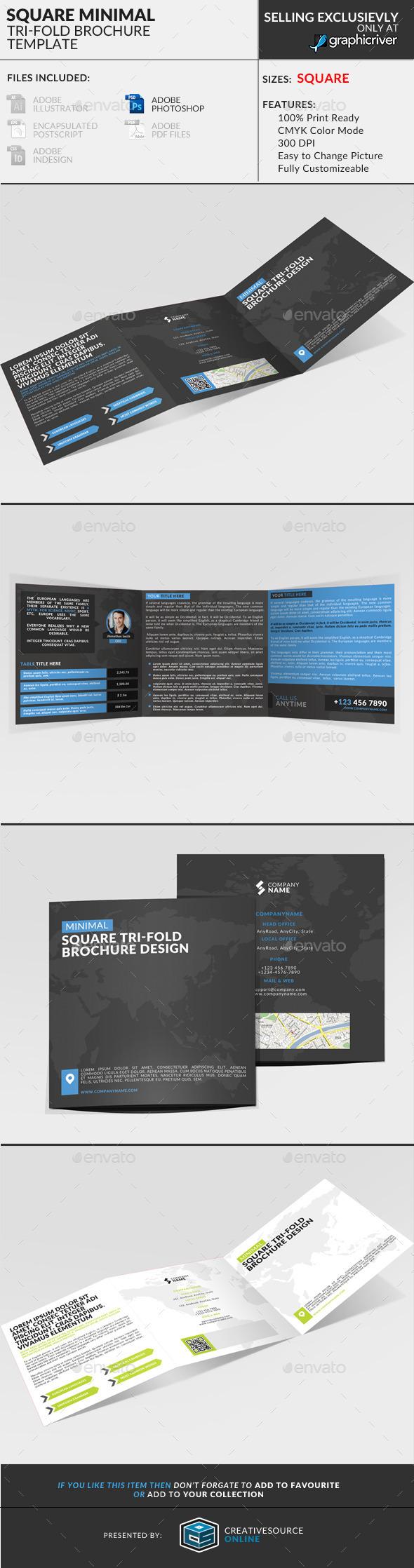 GraphicRiver Square Trifold Brochure Minimal 9279807