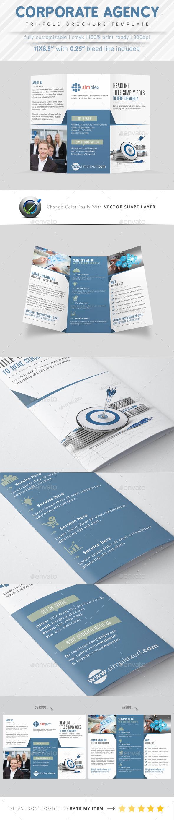 GraphicRiver Corporate Agency Tri Fold Brochure 9280076