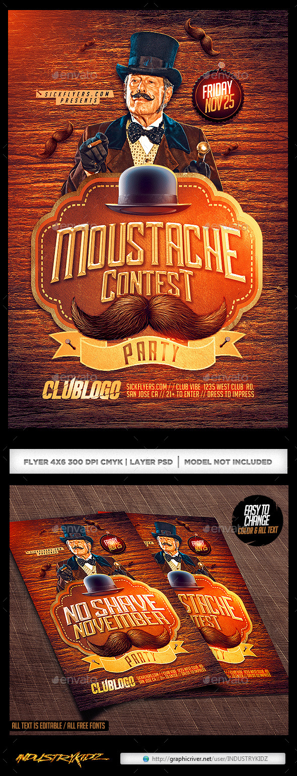 GraphicRiver Movember Flyer 9239984