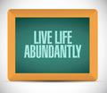 live life abundantly message illustration - PhotoDune Item for Sale
