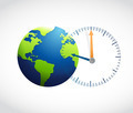 globe and watch illustration design - PhotoDune Item for Sale