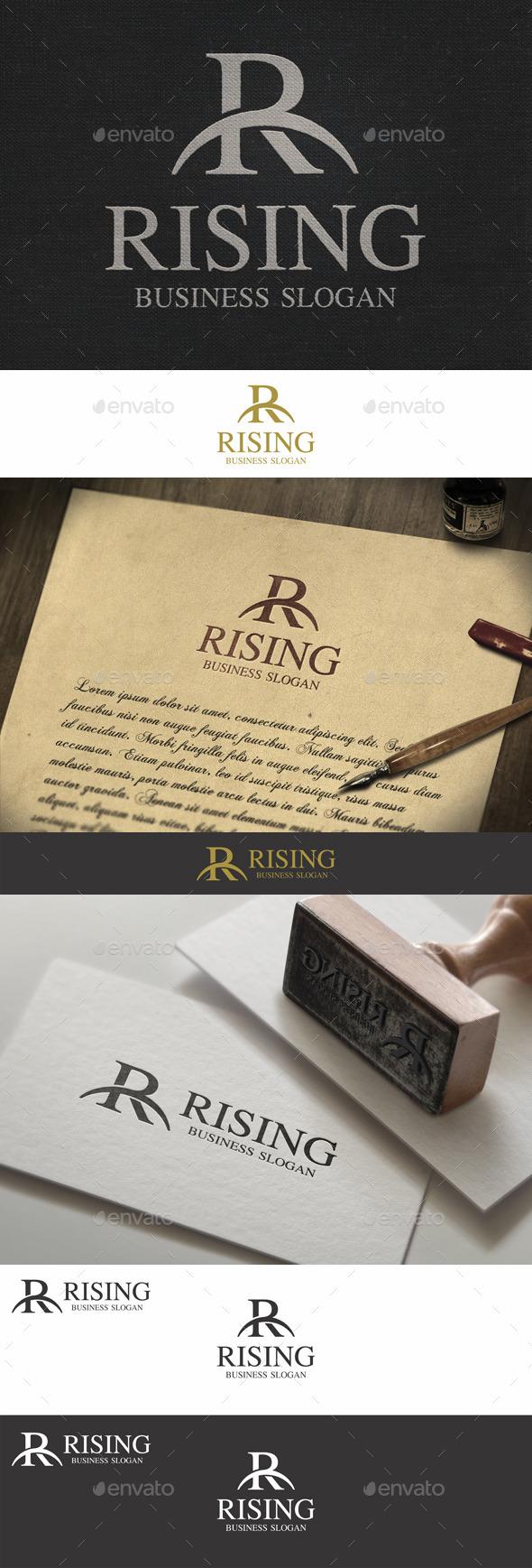 GraphicRiver R Letter Monogram Logo Rising 9281652