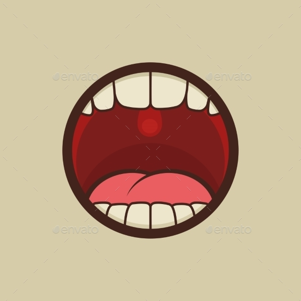 GraphicRiver Open Mouth with Teeth and Tongue 9281731