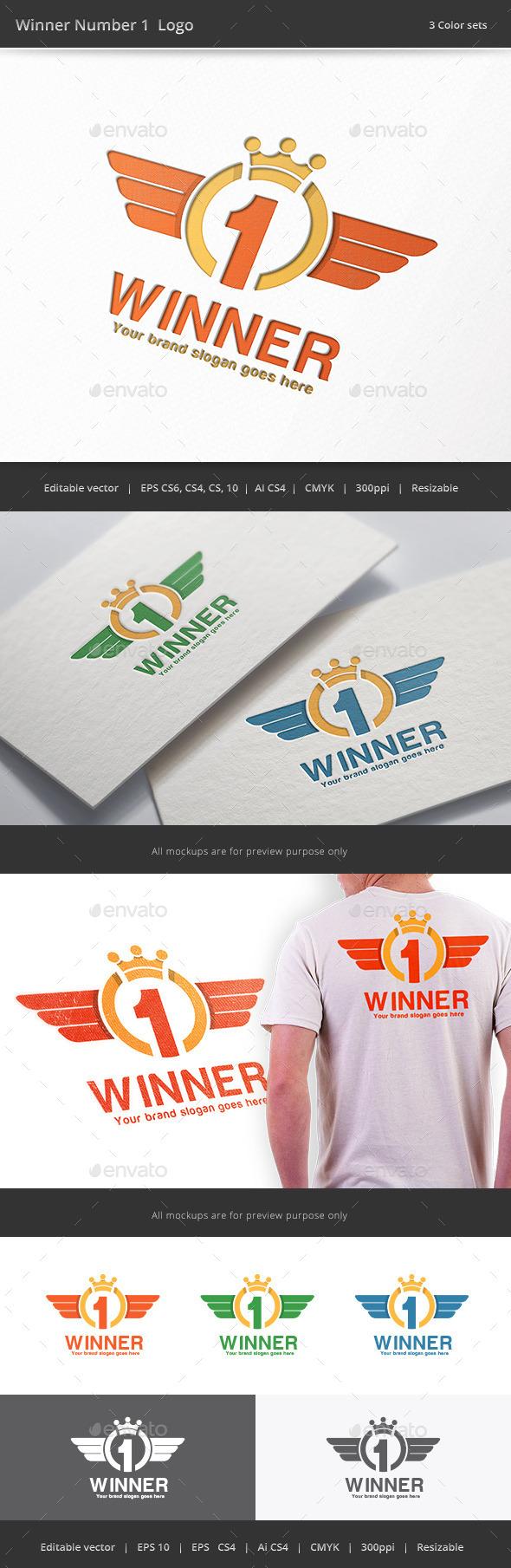GraphicRiver Winner Number 1 Logo 9281945