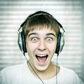 Cheerful Teenager with Headphones - PhotoDune Item for Sale