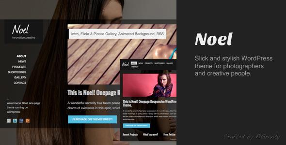 Noel - Responsive Onepage WordPress Theme