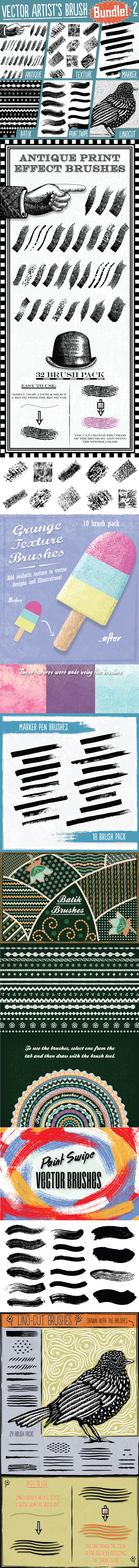 GraphicRiver Vector Artist's Brush Bundle 2 9283167