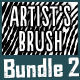 Vector Artist's Brush Bundle 2 - GraphicRiver Item for Sale