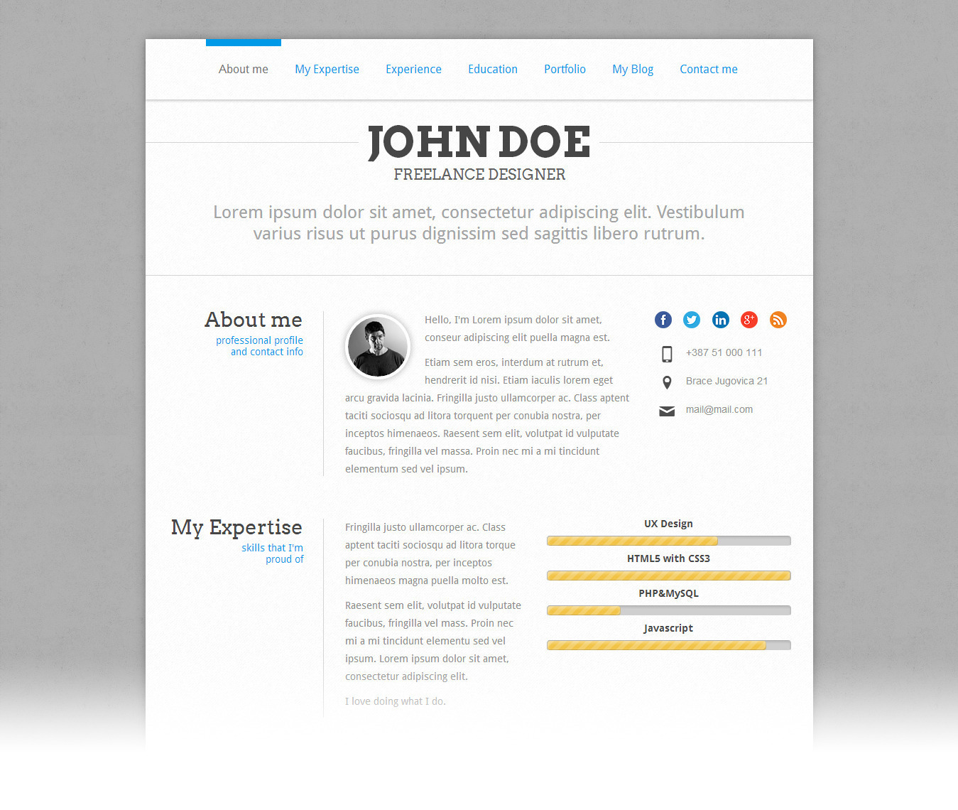 perfectcv responsive cv resume theme by pixeldizajn themeforest perfectcv responsive cv resume theme