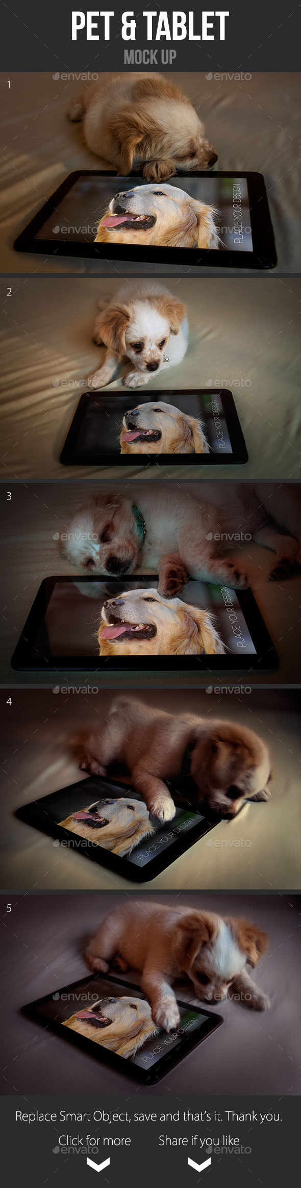 GraphicRiver Pet & Tablet Mock Up 9284444