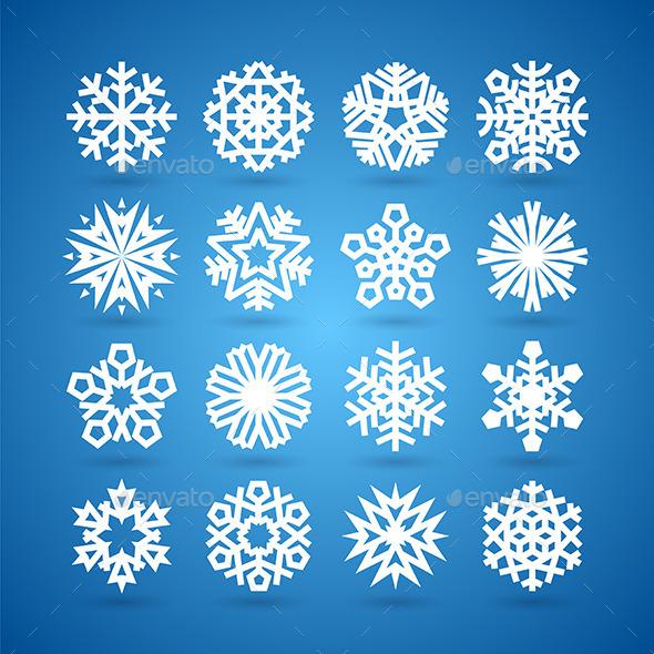 GraphicRiver Snowflakes Set 9272654