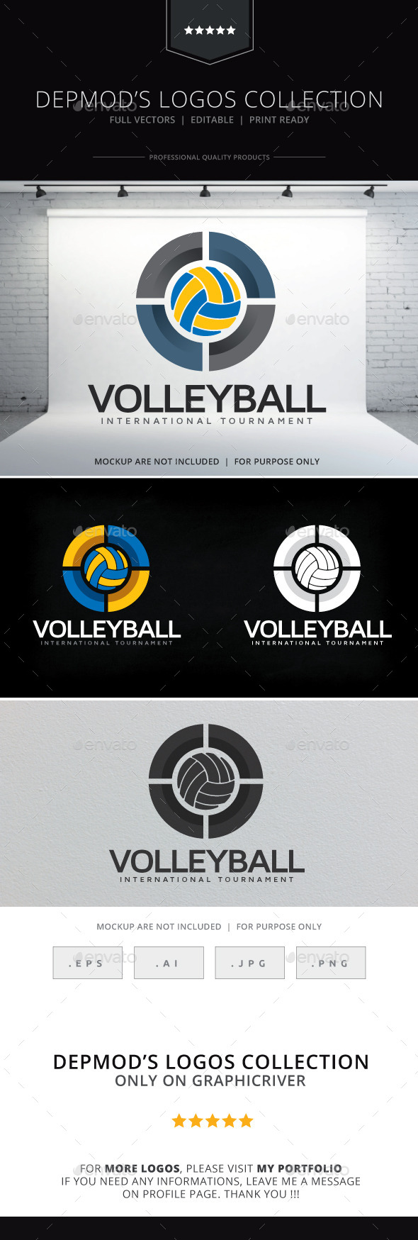 GraphicRiver Volleyball Logo 9284568