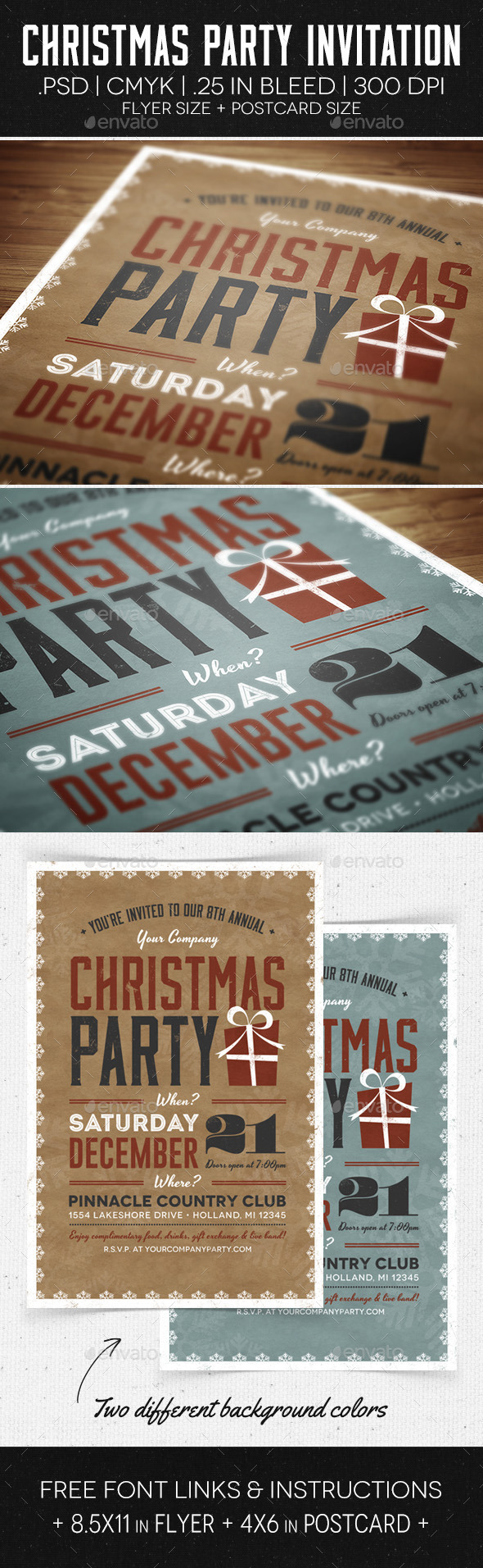 Christmas Party Flyer u0026 Invitation