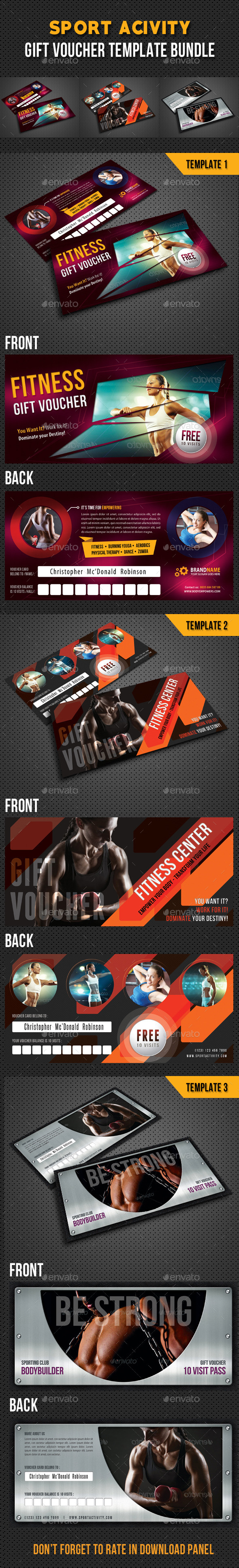 GraphicRiver 3 in 1 Sport Activity Gift Voucher Bundle 02 9284780