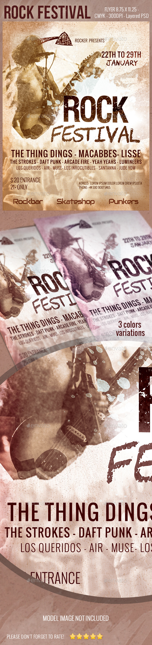 GraphicRiver Rock Festival Flyer 9230962