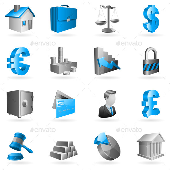 GraphicRiver Business and Finance Icons 9284807