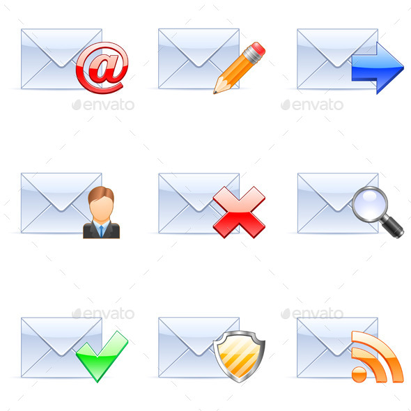 GraphicRiver E-mail Icons 9284808