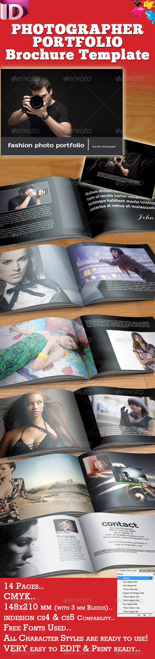 GraphicRiver Photographer Portfolio Brochure Template 947678