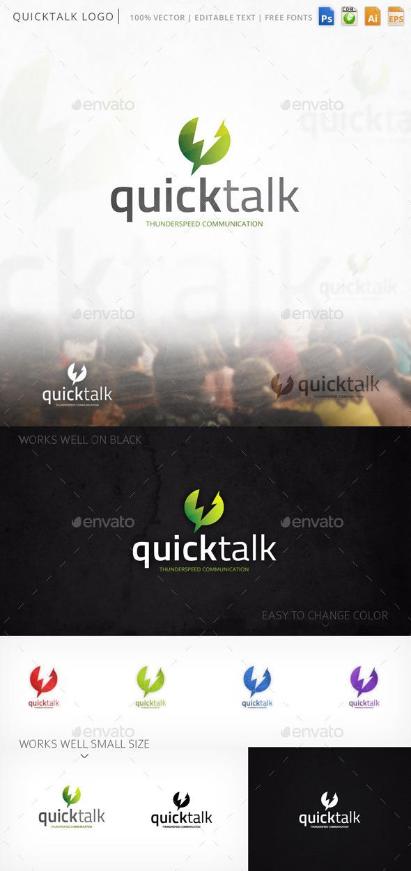 GraphicRiver Quicktalk Logo 9284965