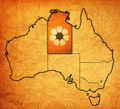 northern territory on map of australia - PhotoDune Item for Sale