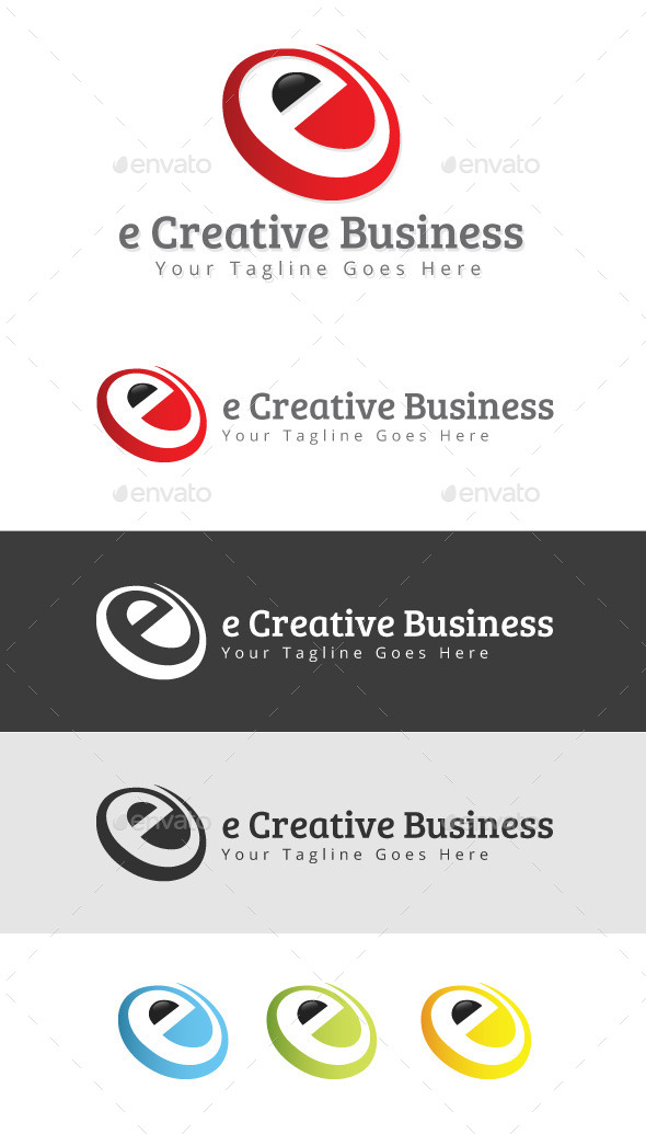 GraphicRiver e Creative Business Logo 9265372