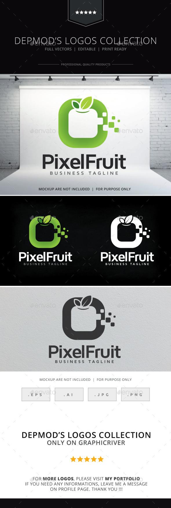 GraphicRiver Pixel Fruit Logo 9285894