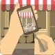 Photo on the phone city bakery - GraphicRiver Item for Sale
