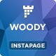 Woody - Drink Shop Instapage Landing page Template