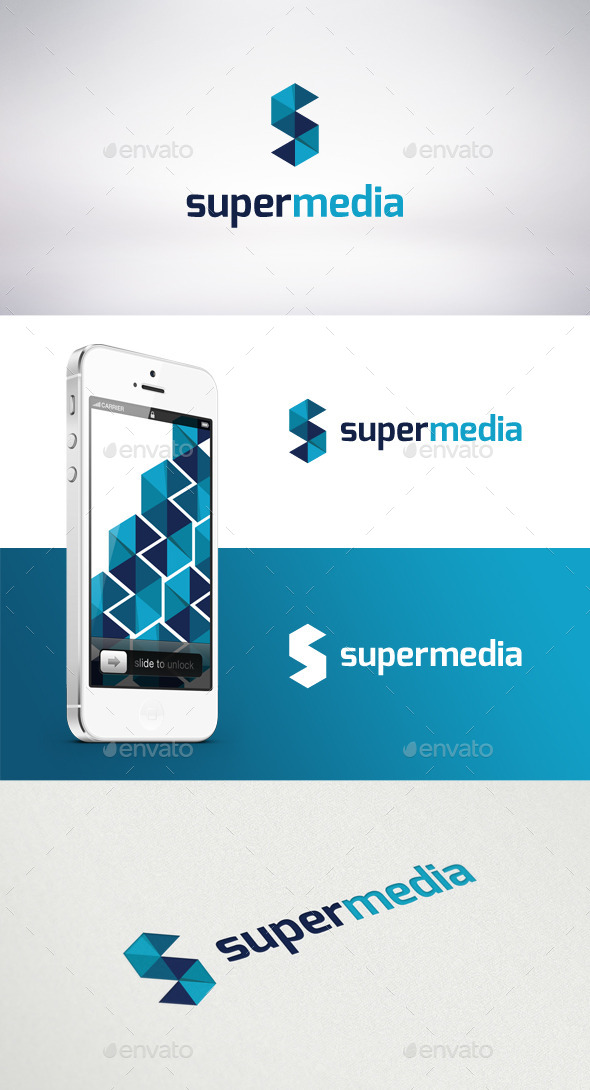 GraphicRiver Super Media Logo Template 9272855