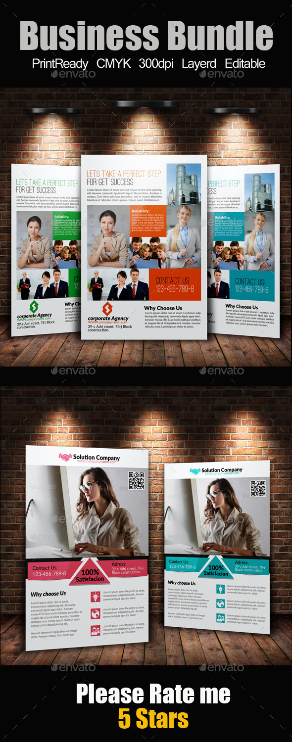 GraphicRiver A4 Business Flyers Bundle 9286306