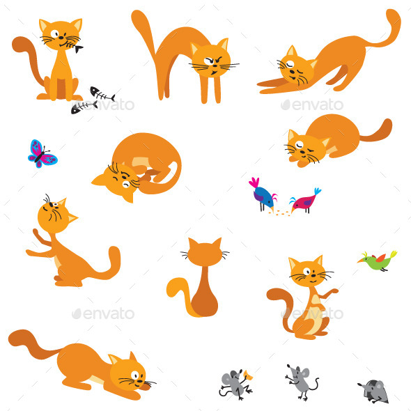 GraphicRiver Ginger Cats 9286692