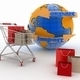 Shopping cart with a globe. Direction concept. - PhotoDune Item for Sale