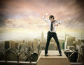 Man dancing on the top of a building - PhotoDune Item for Sale