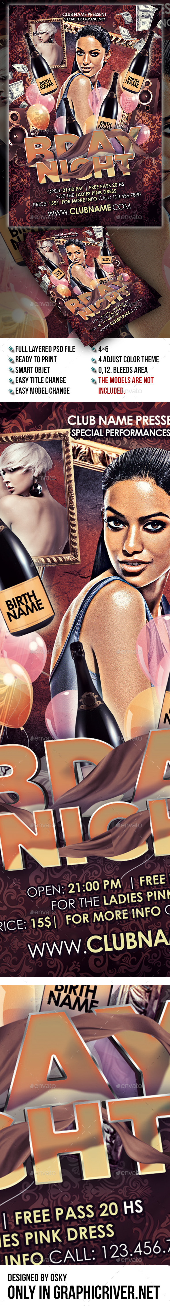 GraphicRiver Bday Night Party 9248405