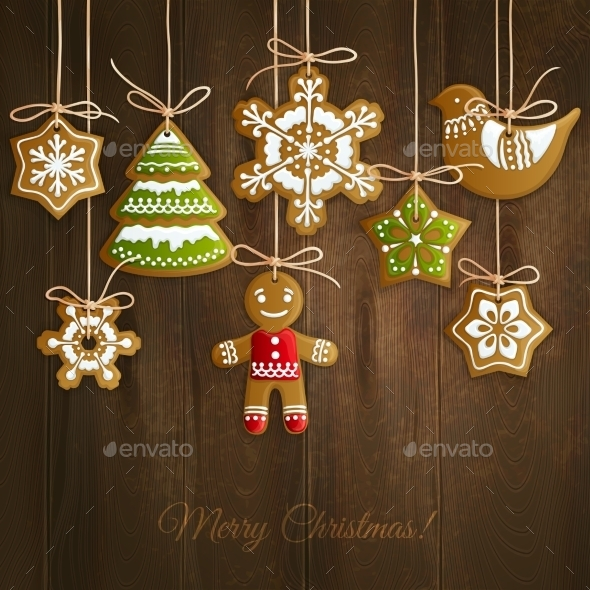 GraphicRiver Christmas Cookies Background 9286715