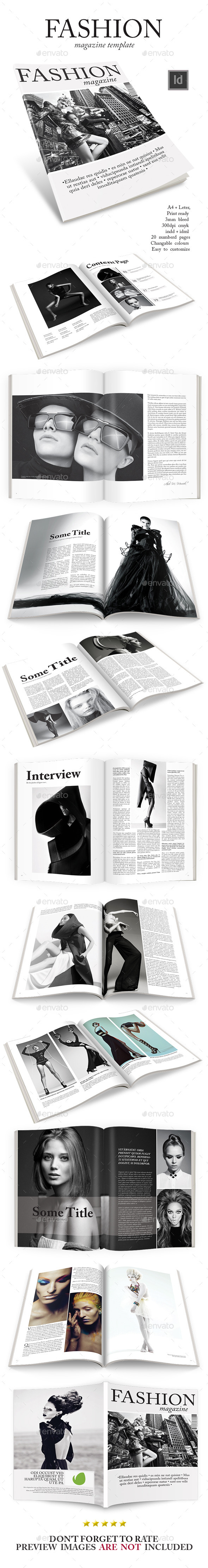GraphicRiver Fashion Magazine Template 9286785