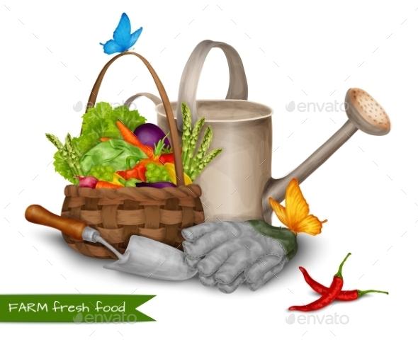 GraphicRiver Farm Fresh Food Concept 9286854